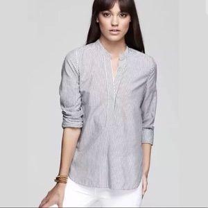 Vince cotton stripe popover shirt